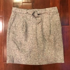 J.Crew Tie Front Short Tweed Pencil Skirt Size 2